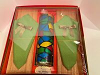 Vintage Mid Century Modern Hostess Gift Set Candle Placemat & Napkin Victory