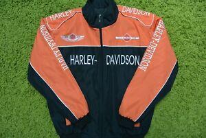 Harley-Davidson Racing Jacket Anniversary Orange/Black Size XL IEV