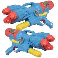 2 x Giant 60cm Water Guns Triple Shooter Nozzle Pump Action Soaker Pistol 922