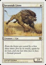 Savannah Lions 9th Edition Heavily Pld White Rare Magic Gathering Card Abugames