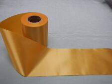 Gold Satin Ribbon 100mm x 25mts