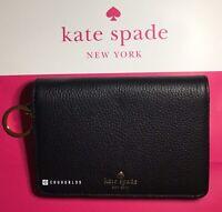 NWT Kate Spade New York Regina Larchmont Avenue Bifold Leather Wallet Black