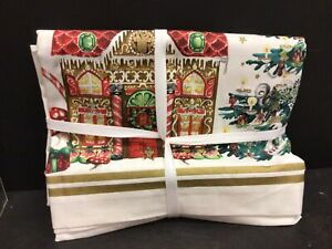 NEW 70 x 108 william sonoma twas the night before Christmas tablecloth