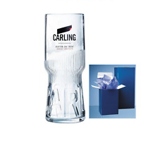 Personalised Carling 1Pint Lager Glass Branded 2019 Design, Engraved Gift +B Mat