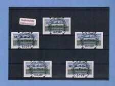 Satz-Rarität 5-155 SENKRECHTE Nummer Posthorn-Logo ERSTTAGSSTEMPEL ATM Nr. 2.2.3