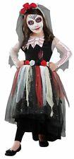 Dia De Los Muerto Day of The Dead Child Girls Halloween Costume Size Medium 8-10