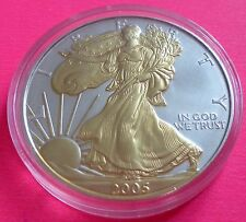 2005 EAGLE  $1 ONE DOLLAR  SILVER GOLD COIN  WITH  COA BEAUTIFUL