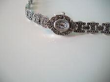 Vintage Look  Bracelet Marcasite Antique Lady Special Occasion Watch