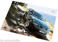 Poster Audi allroad quattro ORIGINAL AUDI 2002 Auto PKWs Deutschland int Nr. 038