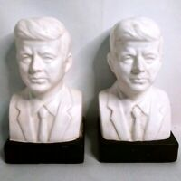 Vintage President JOHN F KENNEDY Bust Bookends Pair - Set of 2
