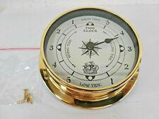 Horloge des marées en laiton décor voilier neuve diametre 11,5cm