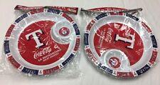 2 Texas Rangers Baseball - Fiesta Serving Platters - Coca-Cola & La Michoacana %
