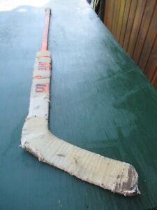 "VINTAGE  Wooden 56""  Long Hockey Stick Goalie SHER-WOOD"