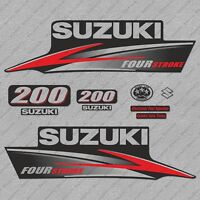 Suzuki 200HP Four Stroke Outboard Engine Decals Sticker Set reproduction 200 HP