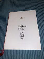 More details for the phantom of the opera 1986 original london programme crawford brightman