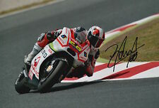 Yonny Hernandez Hand Signed Pramac Ducati 12x8 Photo 2015 MotoGP 4.