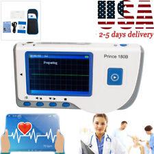 Handheld Ecg Ekg Portable Monitor Electrocardiogram Lcd Display Software Cd A