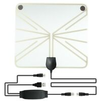 50 -100 Mile Range HD Digital TV Receiving Antenna Clear View Amplified Booster