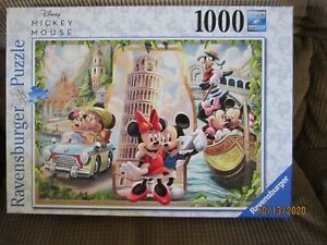 Disney Mickey & Minnie Mouse in Italy PUZZLE 1000 Pieces RAVENSBURGER