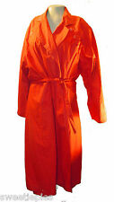 Trench Coat, Fox Run Two, Orange 100%-Cotton Lined long, 10