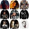 New Women/Men Hip Hop 2pac Tupac Shakur Rapper 3D Print Casual Sweatshirt Hoodie