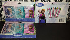 (3) Packs Disney Frozen Crayons - Elsa Olaf Anna 3 Pack 8 Count