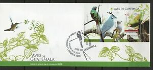 Guatemala FDC stamps birds