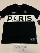 Nike Jordan X PSG Wordmark T-shirt Black Size L-3XL BNWT RARE