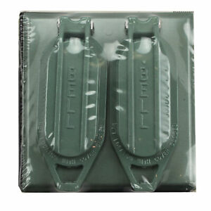 HUBBELL RACO BELL 2-GANG 2-DUPLEX RECEPTACLE WEATHERPROOF COVER FOR OUTSIDE