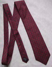 Tie Rack Rojo Oscuro Corbata seda MENS corbata clásico con dibujos
