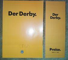 """A38) VW, """"Der Derby"""" mit Preisliste von 1984, Oldtimer, Auto, car"""