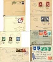 AUSTRIA Cover Postage Stamps Collection Occupational Semi Postal Airmail