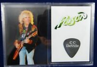 CC DeVille Of Poison Concert Stage Used Guitar Pick