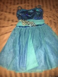 Curtain Call Contemporary lyrical Competition Dance costume Dark Turquiose/Teal