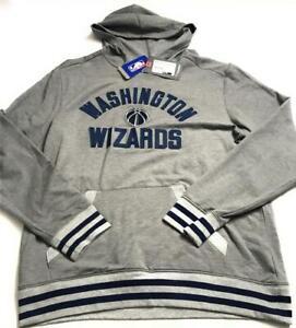New Fanatics Men's NBA Washington Wizards Vintage Upper Class Hoodie, Gray, Sz L
