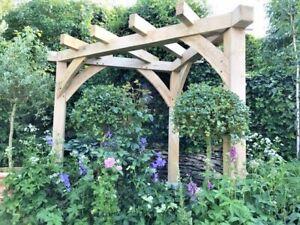 OAK CORNER PERGOLA HANDMADE gazebo, Wood, garden furniture, garden shelter