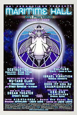 Wu Tang Clan Destruction KRS - One Maritime Hall Poster 2000 Aug MHP# 97