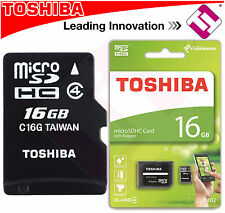 TARJETA MICRO SD 16GB TOSHIBA CLASE 4 CLASS MEMORIA FLASH HIGH SPEED OFERTA