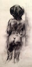 "Julian Ritter - Nude Lady - Charcoal on Vellum - 19"" x 24""Signed - 348"