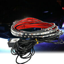 Clear LED Under Glow Tube Neon Light Strip Bluetooth Remote Control RGB AHM J