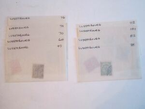 EARLY LUXEMBOURG STAMPS - SC# 49 - 196 & BACK OF BOOK -MINT & USED  - BB-2 A