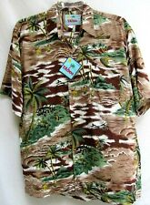 VTG YAHOO..COTTON & RAYON..HAWAIIAN..CAMP..SHIRT..NEW TAGS.sz XL