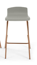 Made.com Single Syrus Barstools, Grey and Copper New without box