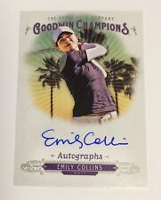 2018 UD Goodwin Champions Autographs Emily Collins Auto SP USA Golf