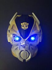 "Genuine Hasbro Transformer Bumblebee ""Light Up Eyes"" Wall Mask 10"" Perfect"