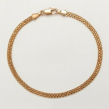 """High Quality 18ct Yellow Gold Filled Snake Chain Link 7"""" Bracelet New UK"""
