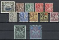 C2689/ BRITISH BARBADOS – 1906 / 1912 MINT MH SEMI MODERN LOT – CV 240 $