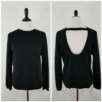 REFORMATION Women's Open Back Knitted Sweater Black Size Small