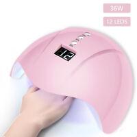 36W Nail Art USB Nail Lamp UV 12 led Light Nail Gel Dryer Curing Polish Machine