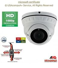 SECURITY CAMERA 4IN1 1080P HD-TVI/AHD/CVI DOME 2.4 MP VARFOCAl  2.8-12 MM